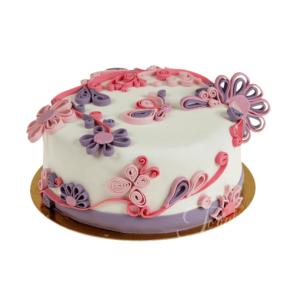 Tort flori quilling ea