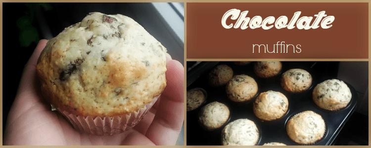 Chocolate Muffins (Brioșe cu ciocolată)